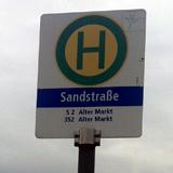 Haltestelle Sandstrasse